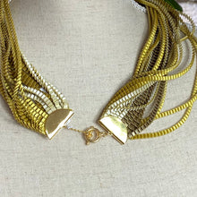 Load image into Gallery viewer, Gold/White/Khaki Eos Necklace