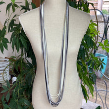 Load image into Gallery viewer, Silver/Black/White  Necklace