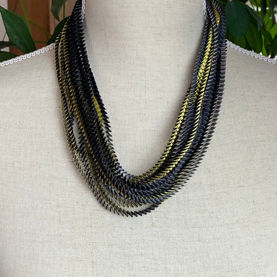 Silver/Gold/Black Necklace