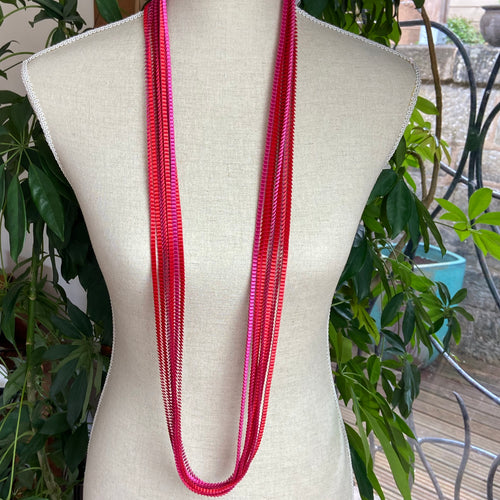 Red/Fuchsia Necklace