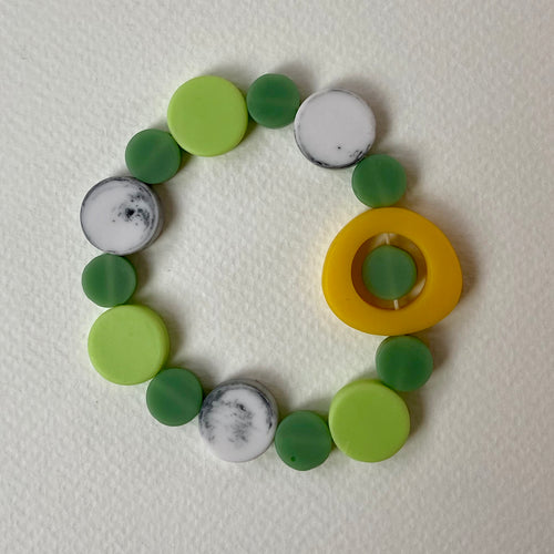 Resin Green and Yellow Bracelet
