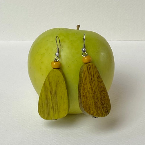 Green Pebble Earrings