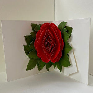 Red Rose Pop Up Card