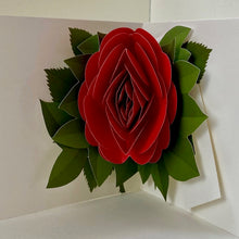 Load image into Gallery viewer, Red Rose Pop Up Card