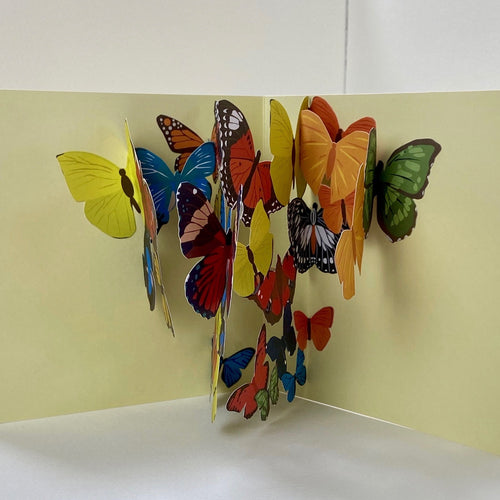 Kaleidoscope Pop Up Card Many Butterflies