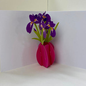 Irises Pop Up Card