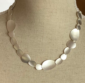 Silver Abstract Shapes Necklace