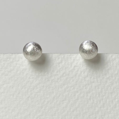 Silver Scratched Earrings