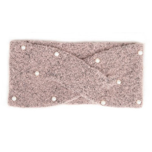 Pink Pearl Knitted Headband