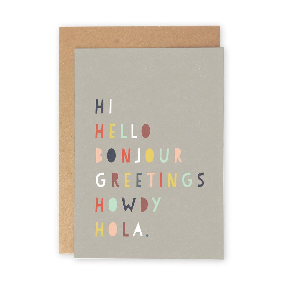 Hi Hello Card
