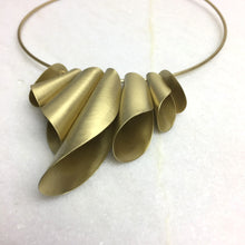 Load image into Gallery viewer, Bronze Folded Necklace
