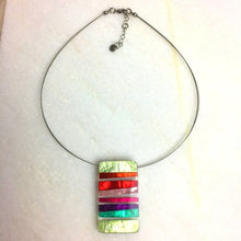 Load image into Gallery viewer, Resin Stripes Necklace