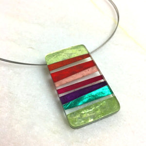 Resin Stripes Necklace