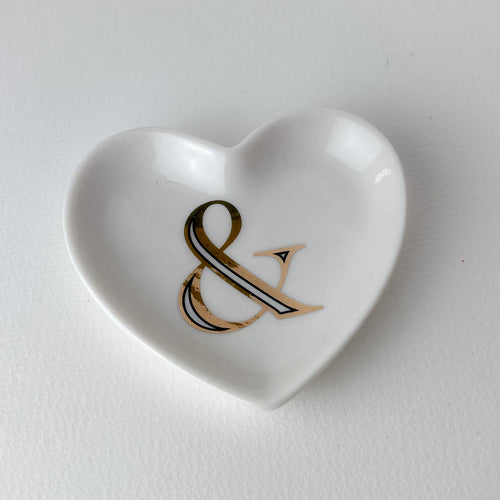 Ampersand Heart Trinket Dish