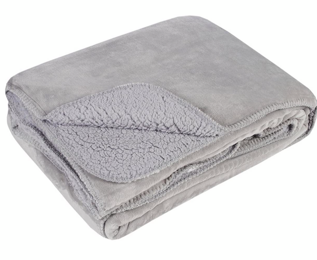 Silver Softest Fleece Throw