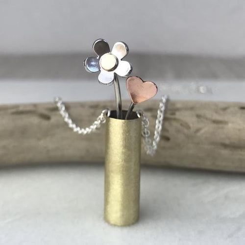 Flower Vase Necklace