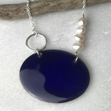 Load image into Gallery viewer, Mediterranean Blue Oval Necklace