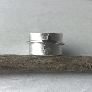 Silver Star Spinning Ring