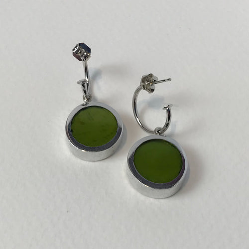 Green Reversible Earrings