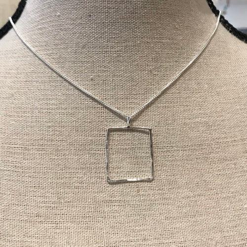 Square Outline Necklace
