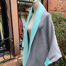 Load image into Gallery viewer, Pale Blue & Grey Reversible Wrap