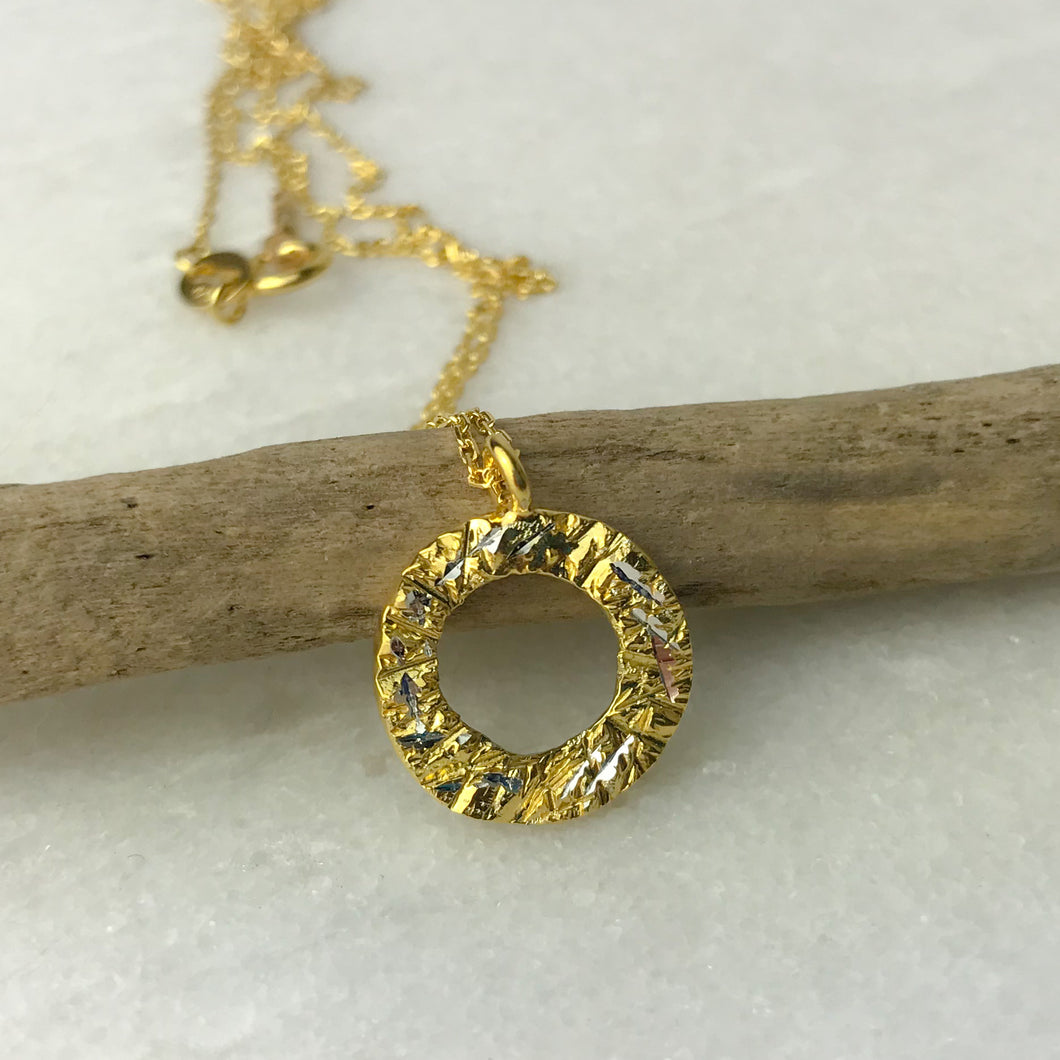 Gold Small Hoop Necklace