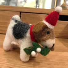 Load image into Gallery viewer, Fox Terrier With Mistletoe Decoration