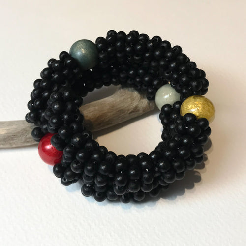 Black Wood & Capiz Bracelet