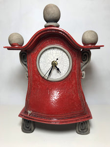 Medium Red Clock