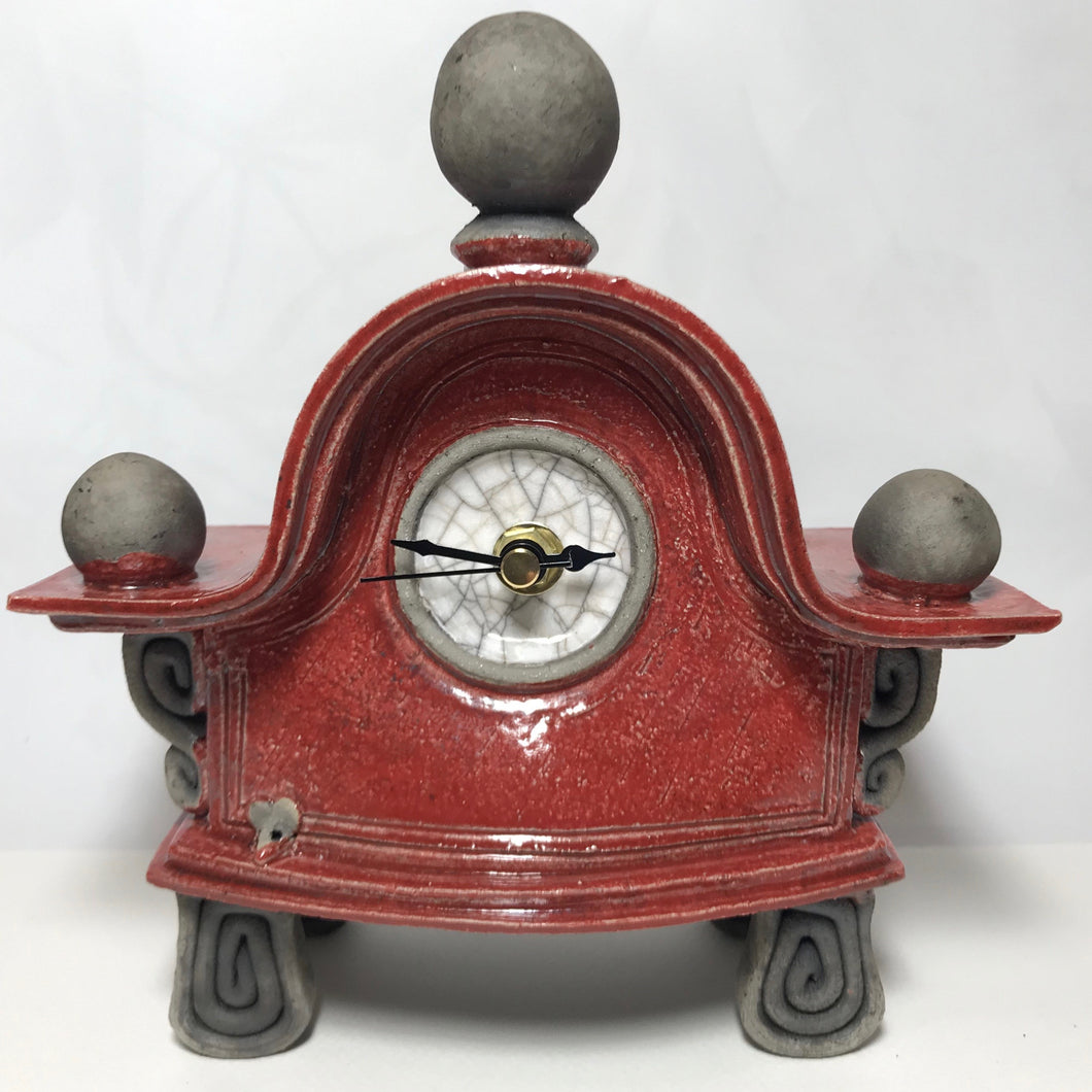 Small Red Clock