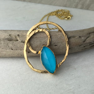 Aqua Twist Necklace