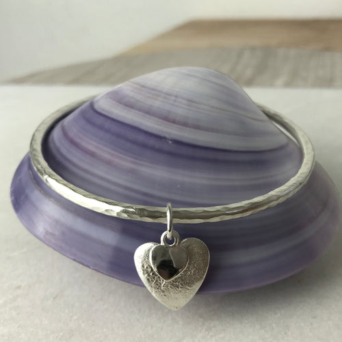 Chunky Heart Bangle