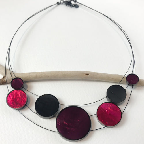 Purple Disc Necklace