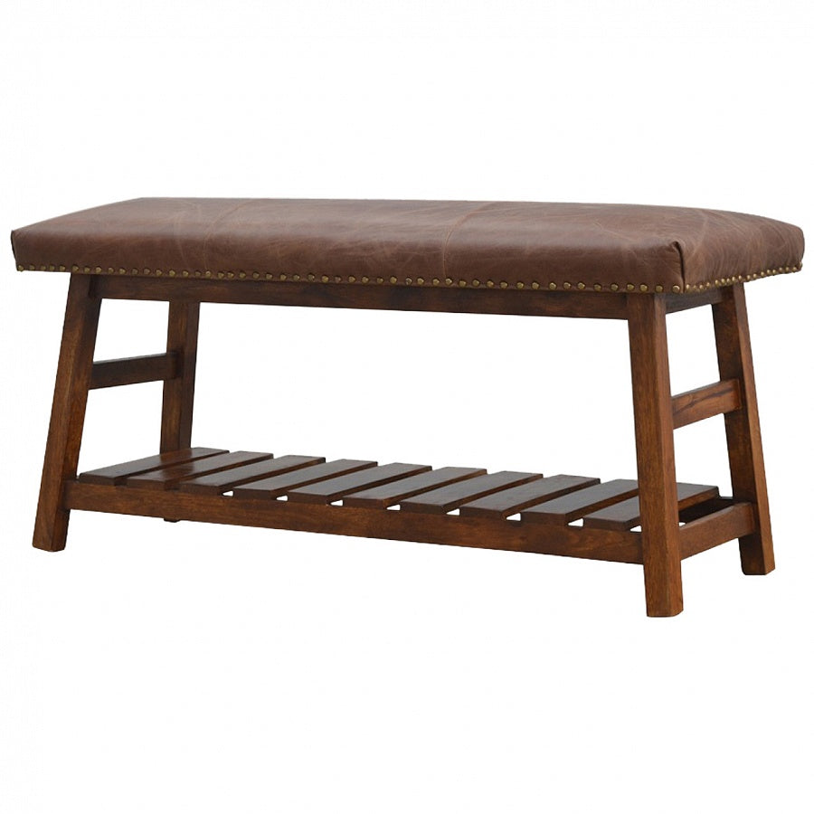 Buffalo Hide Bench