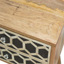 Load image into Gallery viewer, Bone Inlay Bedside Table - 2 Drawers