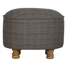 Load image into Gallery viewer, Oval Footstool Tweed