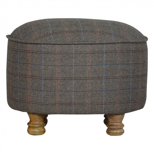 Oval Footstool Tweed