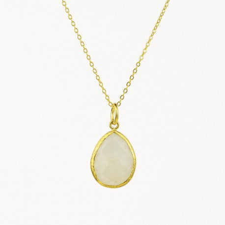Moonstone Charm Necklace
