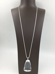 Long Clear Stone Necklace