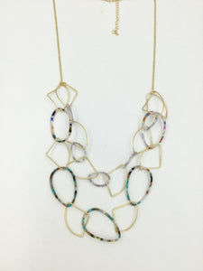 Double Strand Resin Necklace
