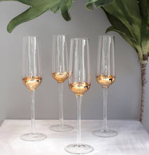 Load image into Gallery viewer, Copper Champagne Glass