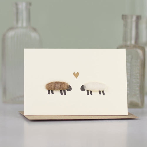 Sheep In Love Card