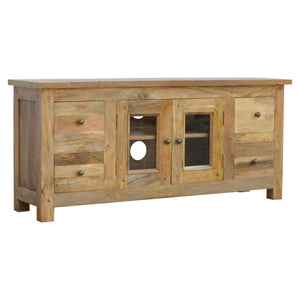 Granary Media Unit  - 4 Drawer, 2 Door, 2 Shelves