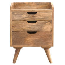 Load image into Gallery viewer, Gallery Back Bedside Table - 3 Drawers