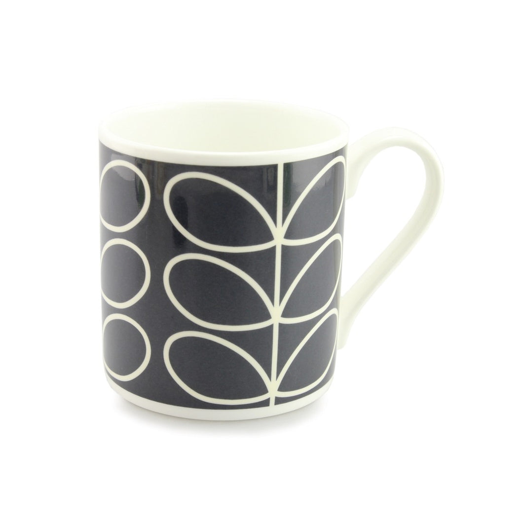 Large Stem Blue Mug