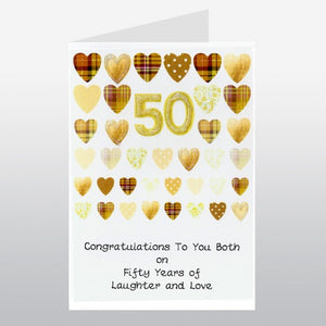 Gold Anniversary Card