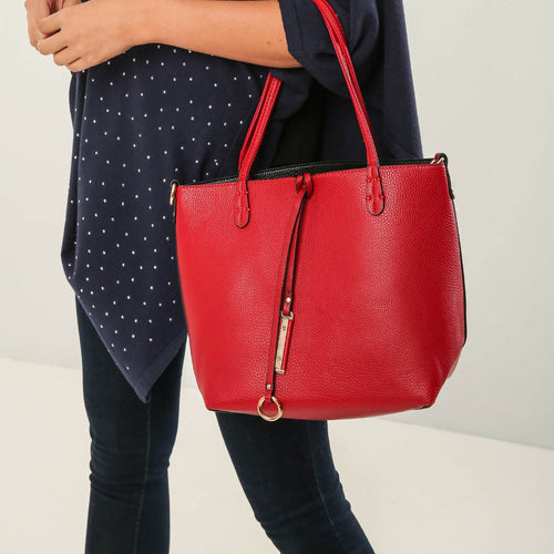 Red & Black Reversable Bag