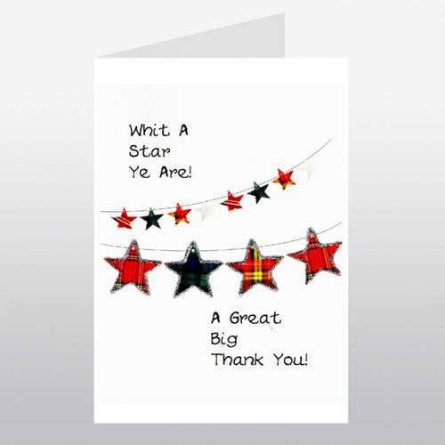 Star Thank You Card