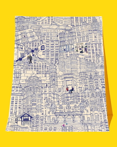 West End Walks Tea Towel