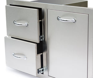 Summerset SSLPDC-1  Two Drawer propane Tank Pullout Drawer